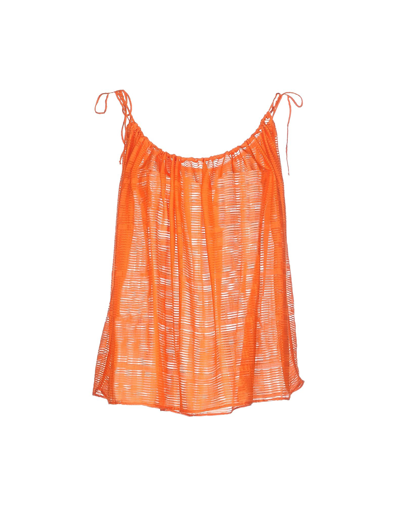 Orange Top With Umbrella Sleeves The Vanca: Fendi Top In Orange