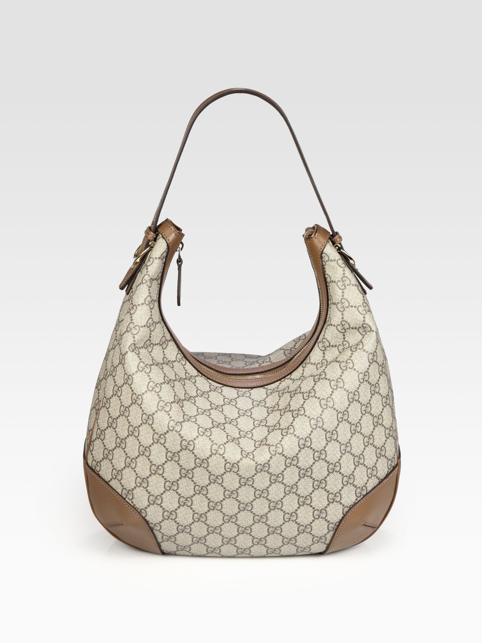 1ce6d15be Gucci Gg Supreme Canvas Hobo in Brown - Lyst