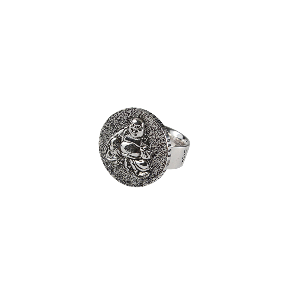 buddha buddha sterling silver coin ring in silver lyst