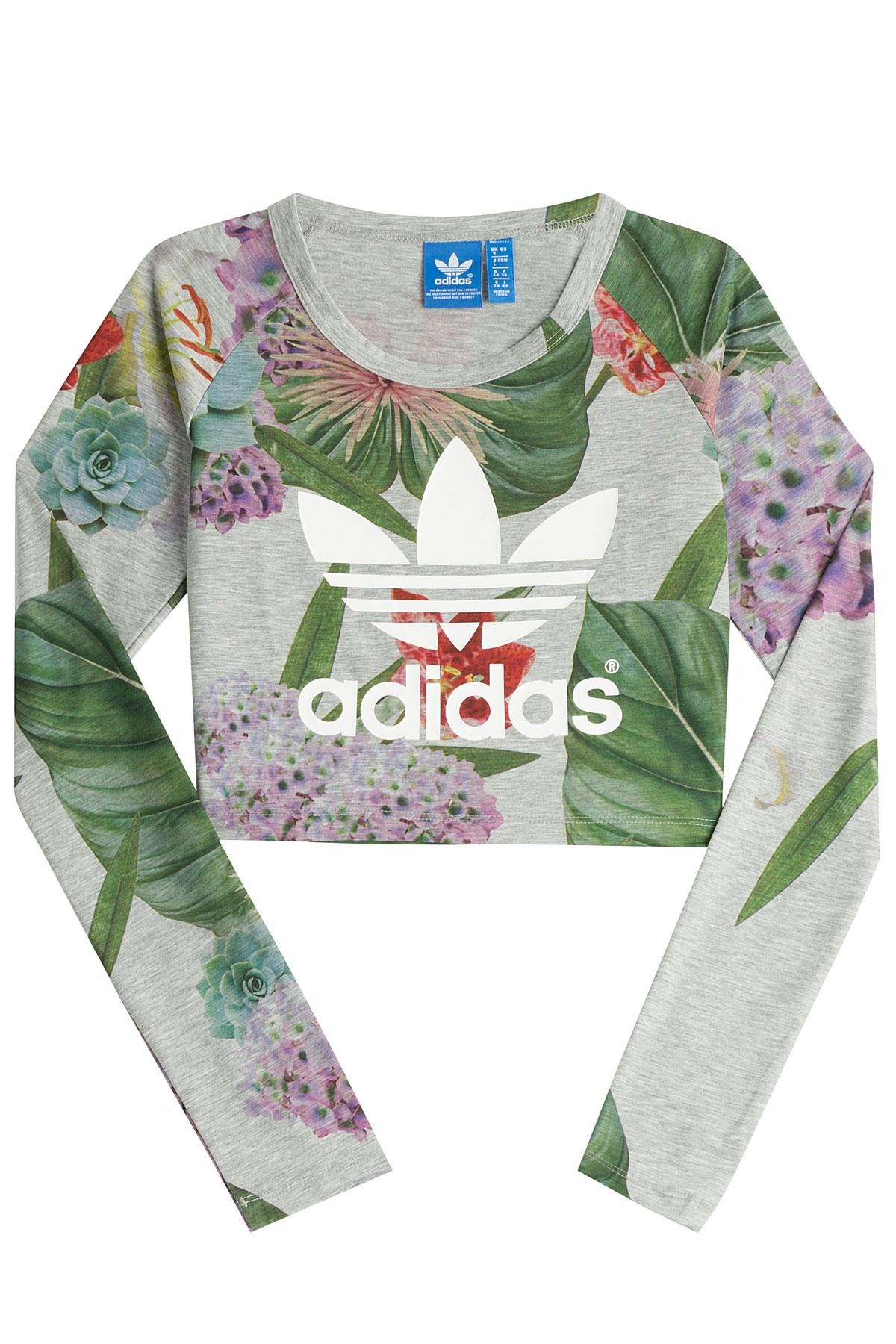 667799476ddd89 Adidas Crop Top Floral l-d-c.co.uk