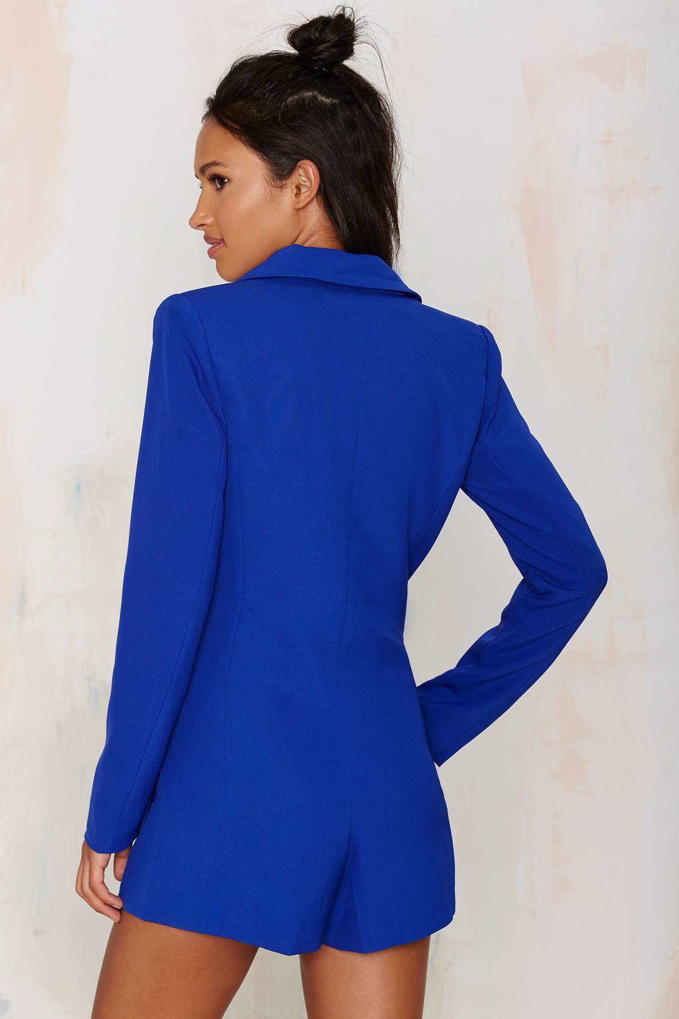 a33c73fda562 Lyst - Nasty Gal No Tux Given Blazer Romper - Blue in Blue