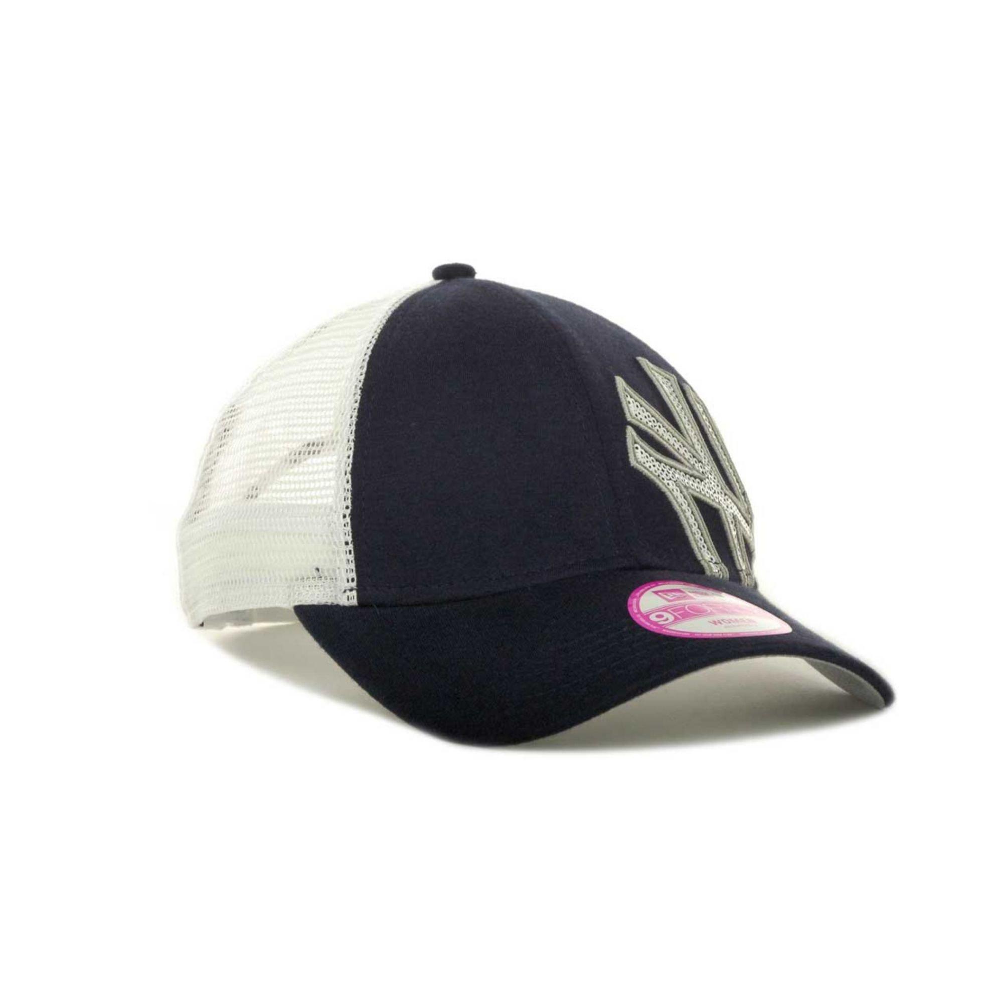 new era womens new york yankees sequin shimmer 9forty cap