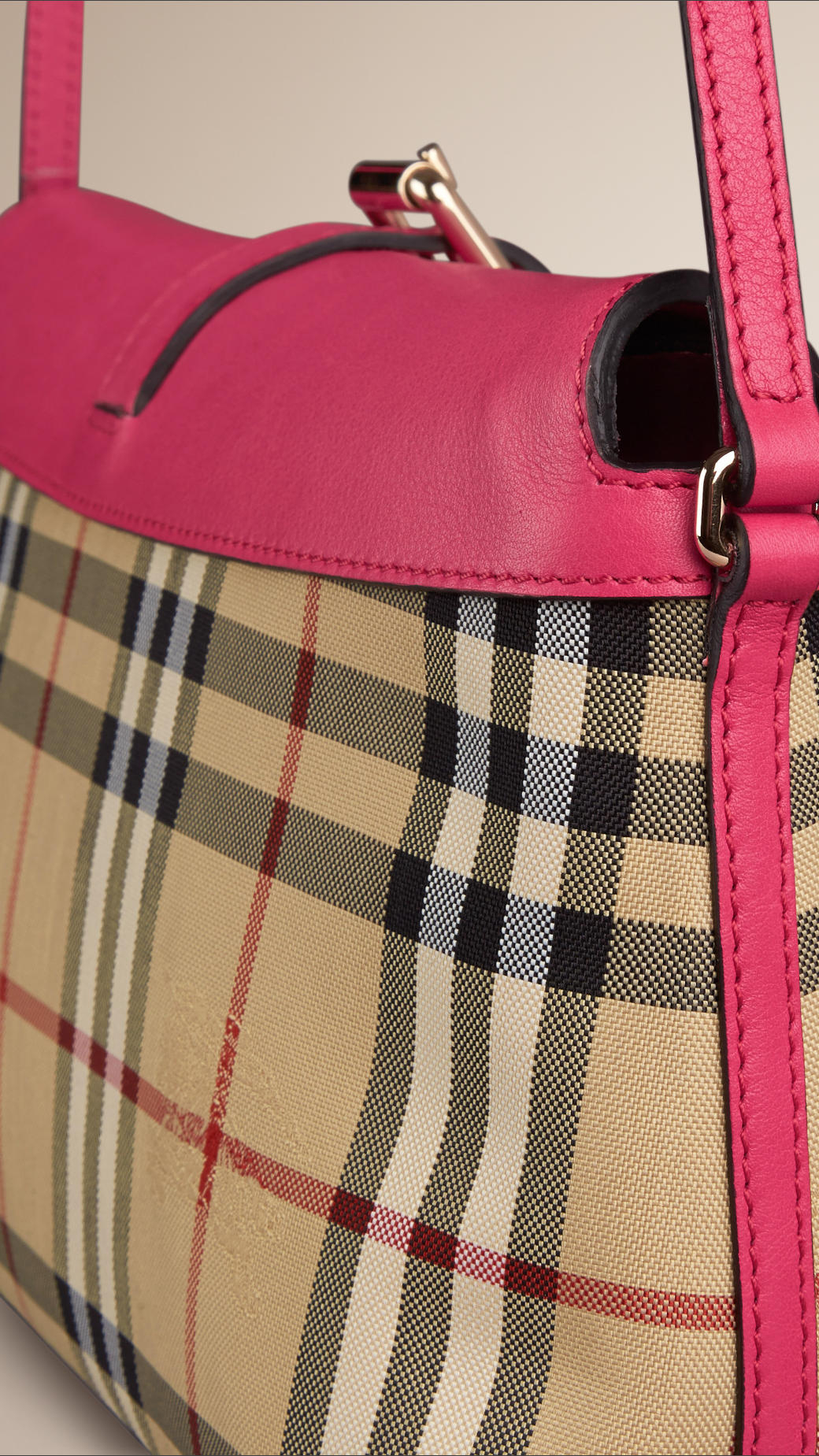 Burberry Small Horseferry Check Clutch Bag In Pink Lyst