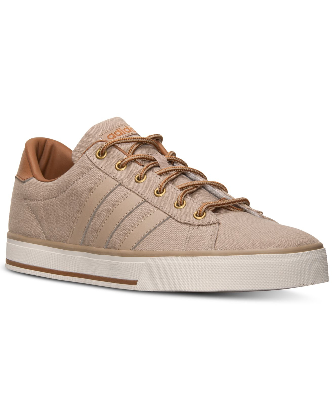 new product d3402 4e25e ... womens trainers brown black legitimate f39077 suede shoes acmnowy025  86667 124c2 coupon code for lyst adidas mens neo daily vulc canvas casual  sneakers ...