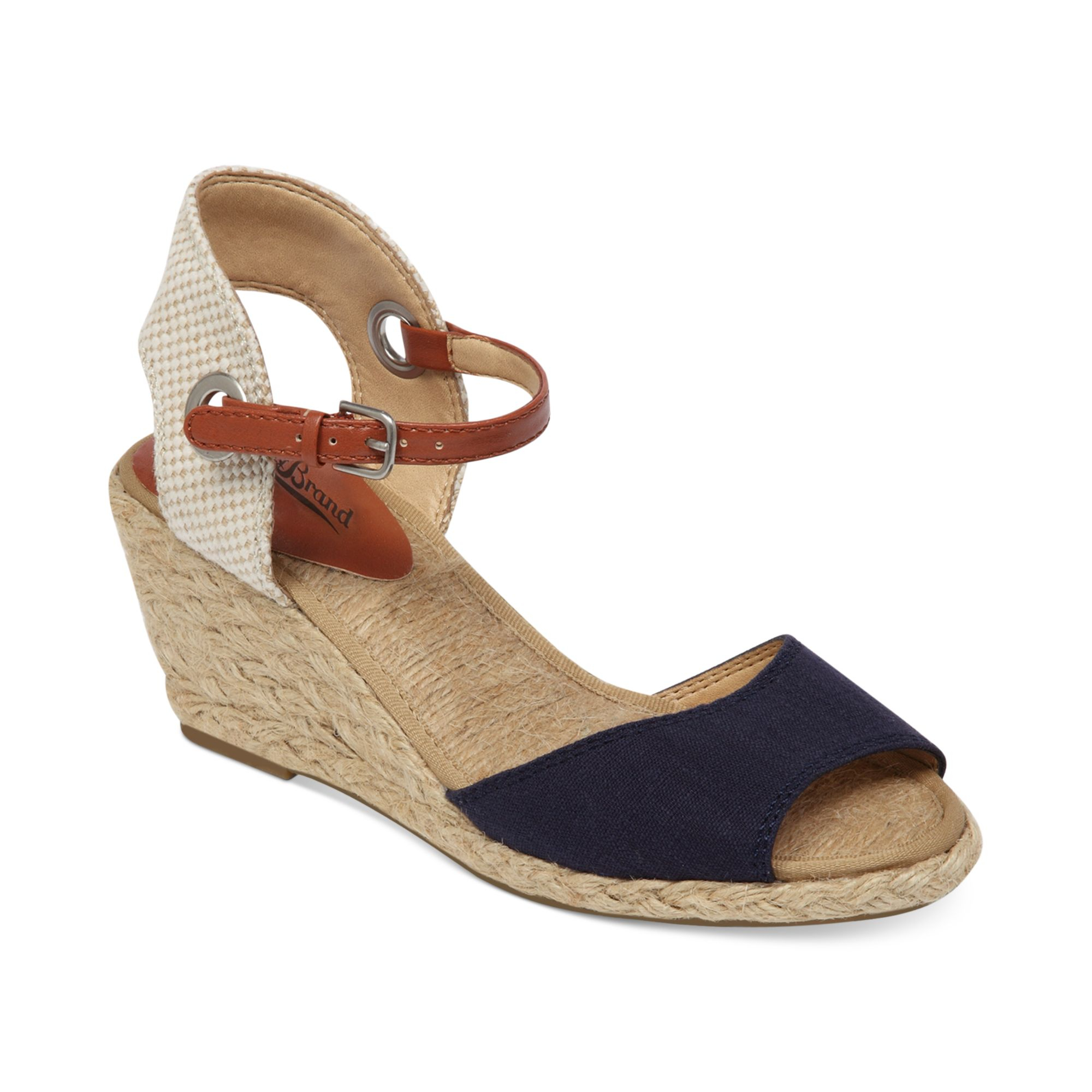 Lyst Lucky Brand Womens Kyndra Demi Wedge Sandals In Blue
