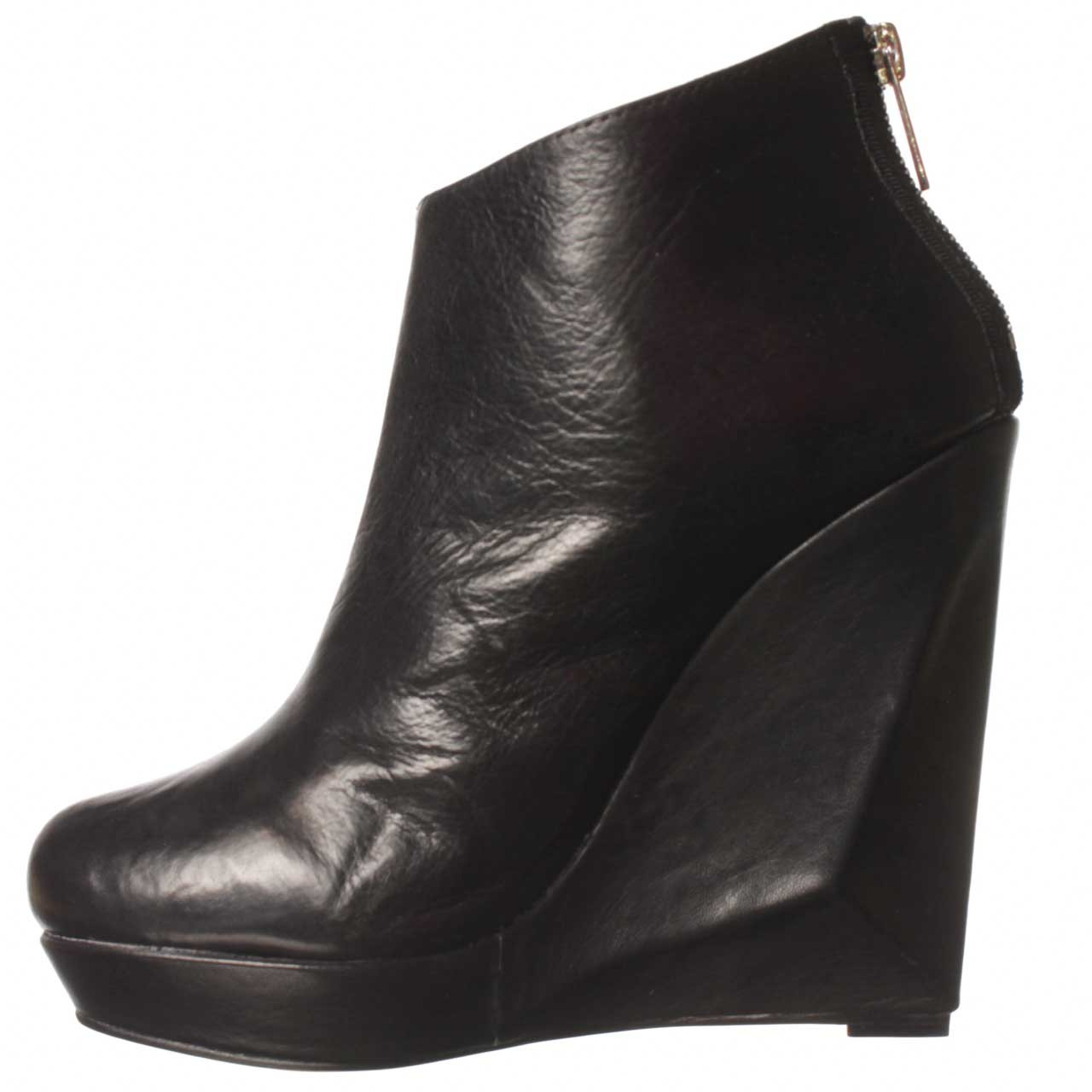 dolce vita fury wedge boot in black lyst