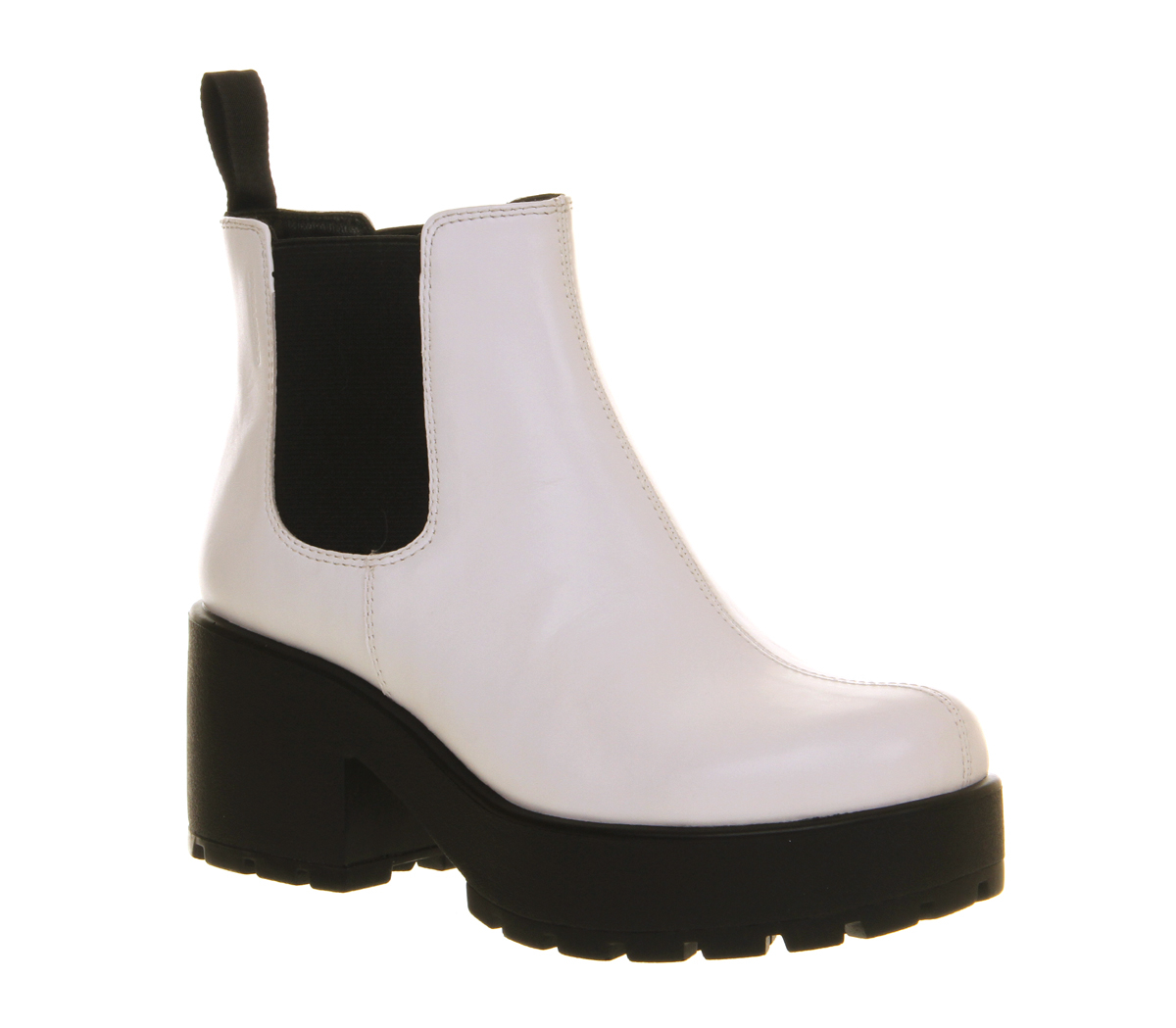 vagabond dioon elastic chelsea boots in white lyst. Black Bedroom Furniture Sets. Home Design Ideas