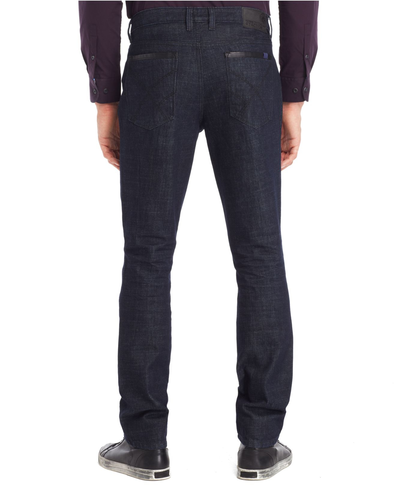 Kenneth cole reaction Straight-Fit Dark Wash Jeans in Blue for Men