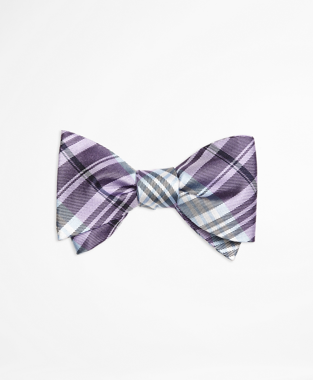 Brooks brothers Plaid Bow Tie in Purple for Men | Lyst