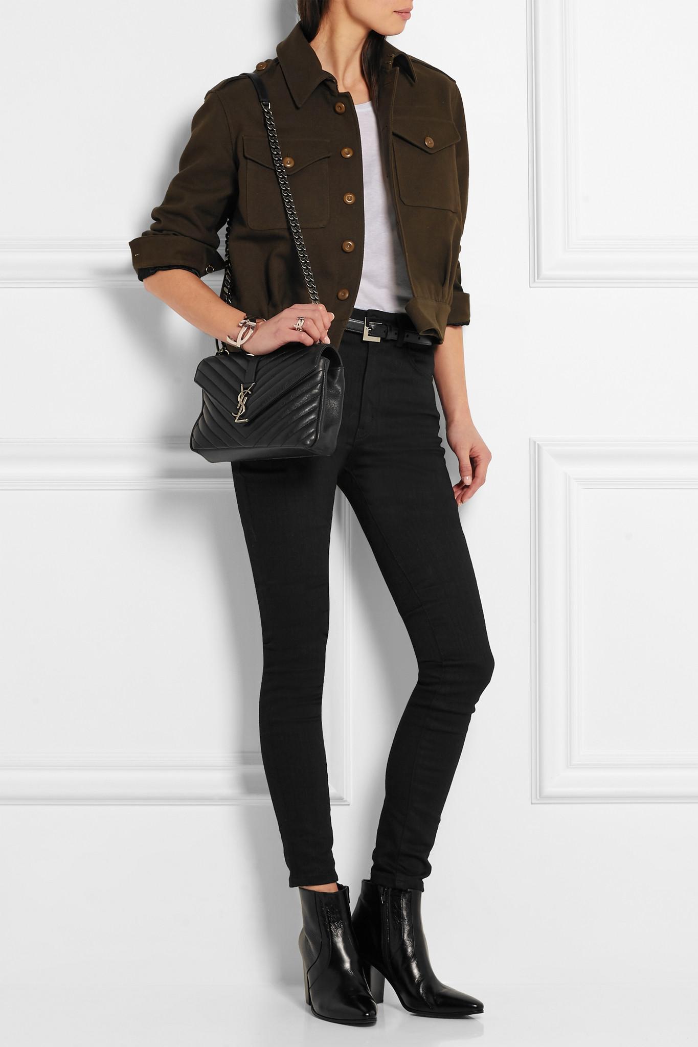 Saint Laurent Monogramme College Medium Quilted Leather Shoulder Bag ... c0b834c5c0