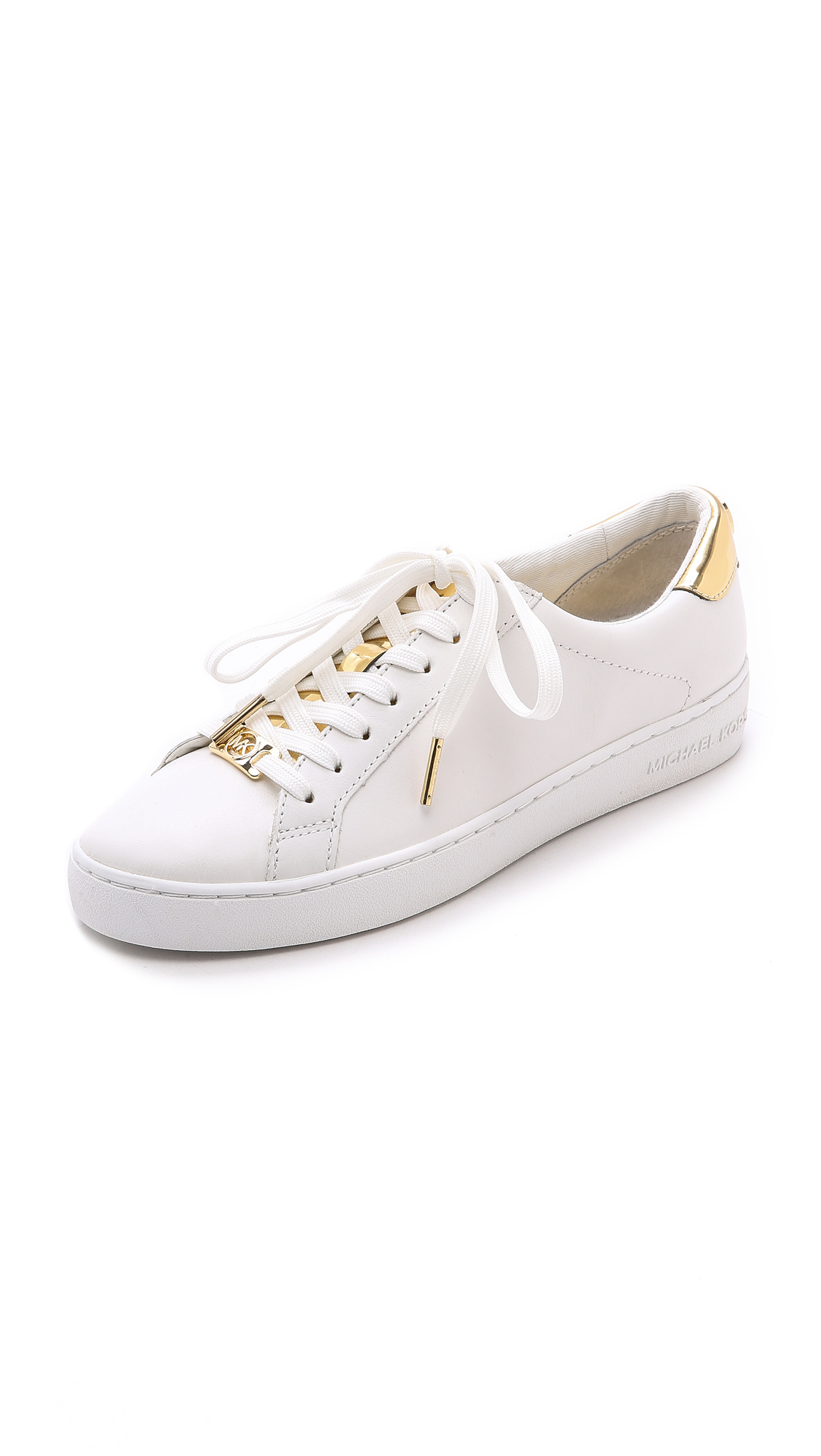 33c498f5588a Lyst - MICHAEL Michael Kors Irving Lace Up Sneakers - Optic Pale ...