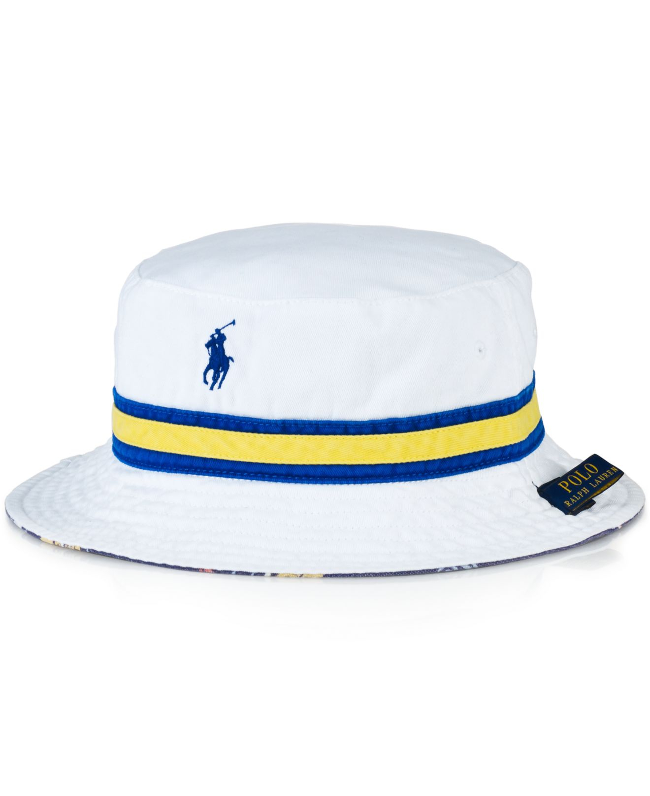 16dc6c824db57 ... authentic lyst polo ralph lauren reversible bucket hat in white for men  7a687 7caf5