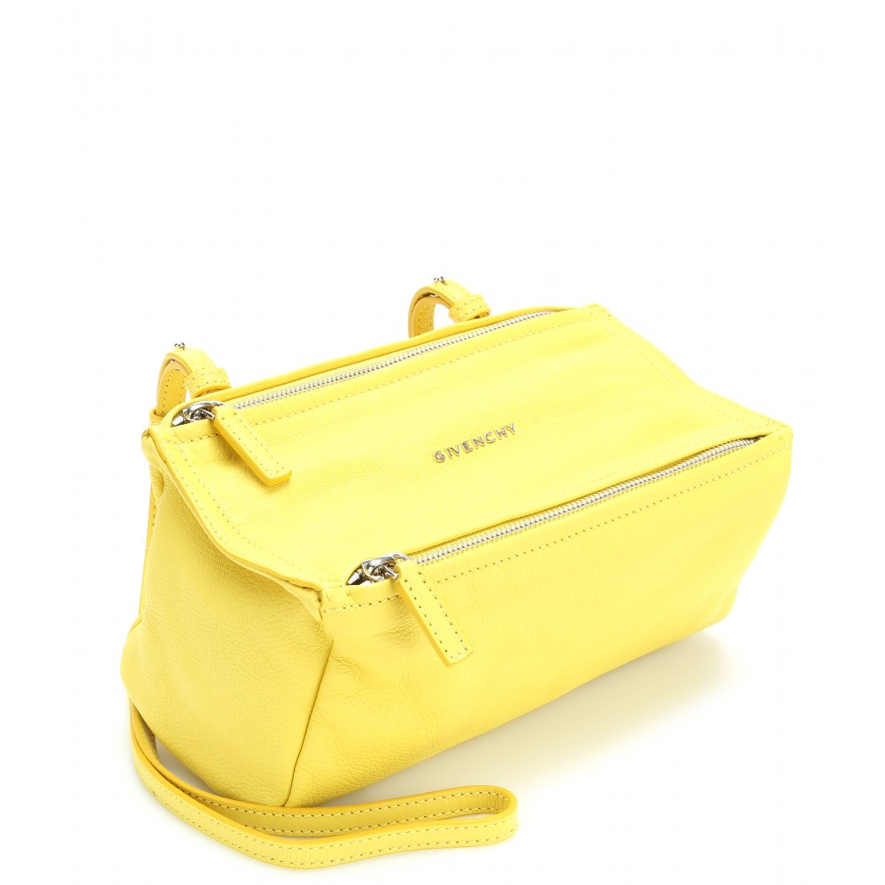 Givenchy Pandora Mini Leather Shoulder Bag in Yellow | Lyst