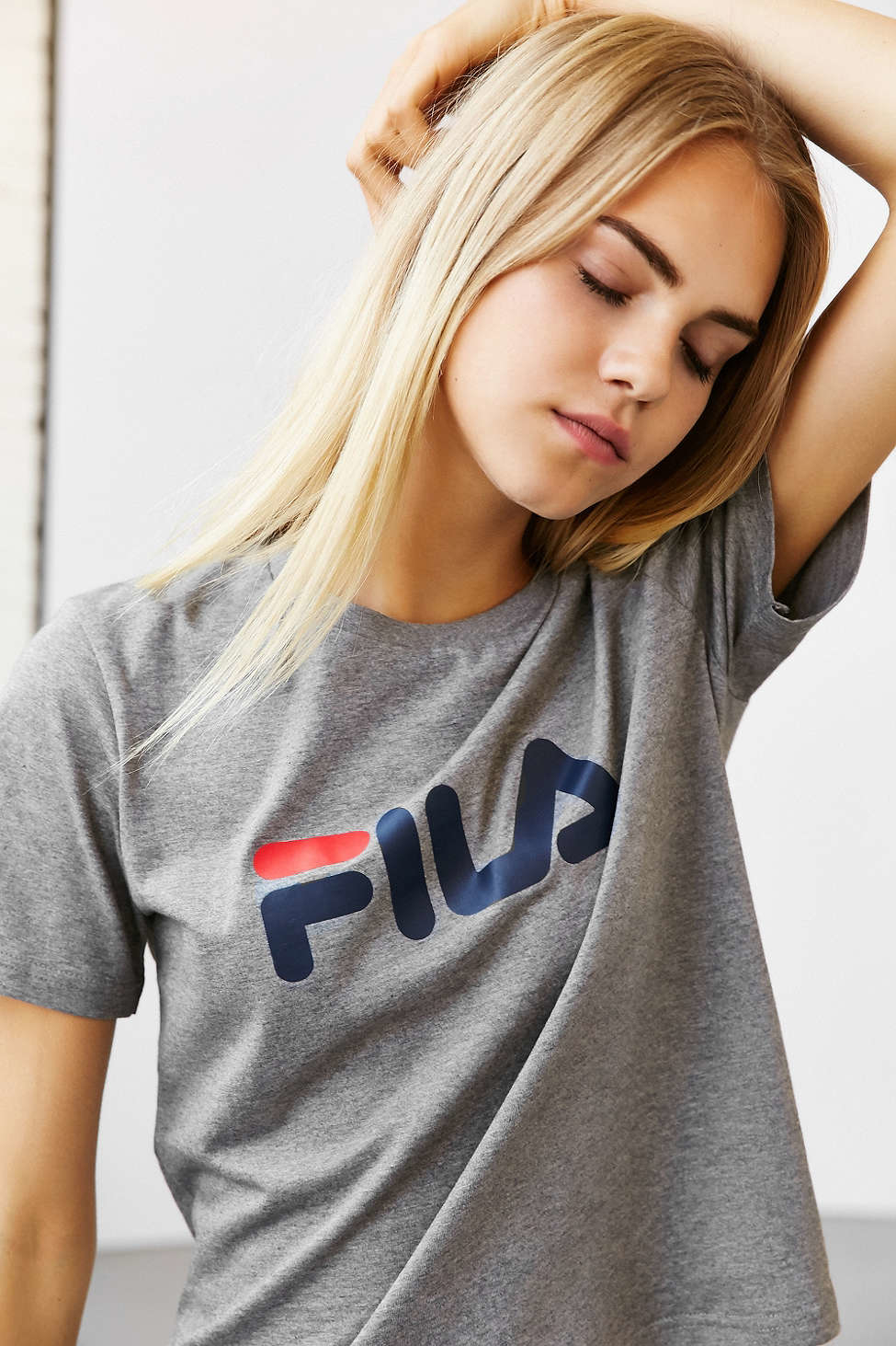 Bing Contact Us >> Lyst - Fila + Uo Miss Eagle Logo Tee in Gray