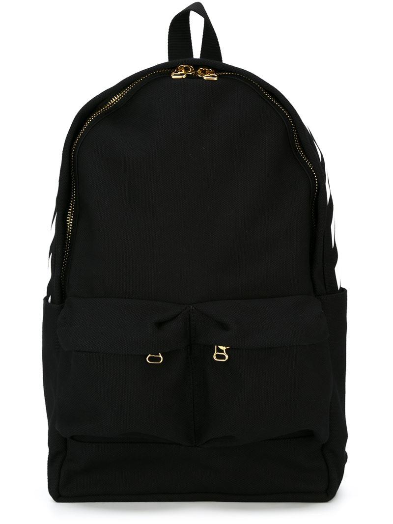 off white c o virgil abloh stripe detail backpack in black. Black Bedroom Furniture Sets. Home Design Ideas