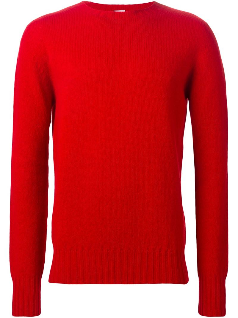 Red Crew Neck Sweater Women S Her Sweater