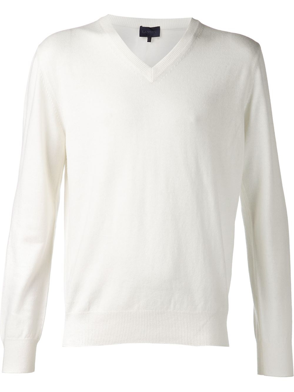 Lanvin Cashmere Sweater in White for Men | Lyst