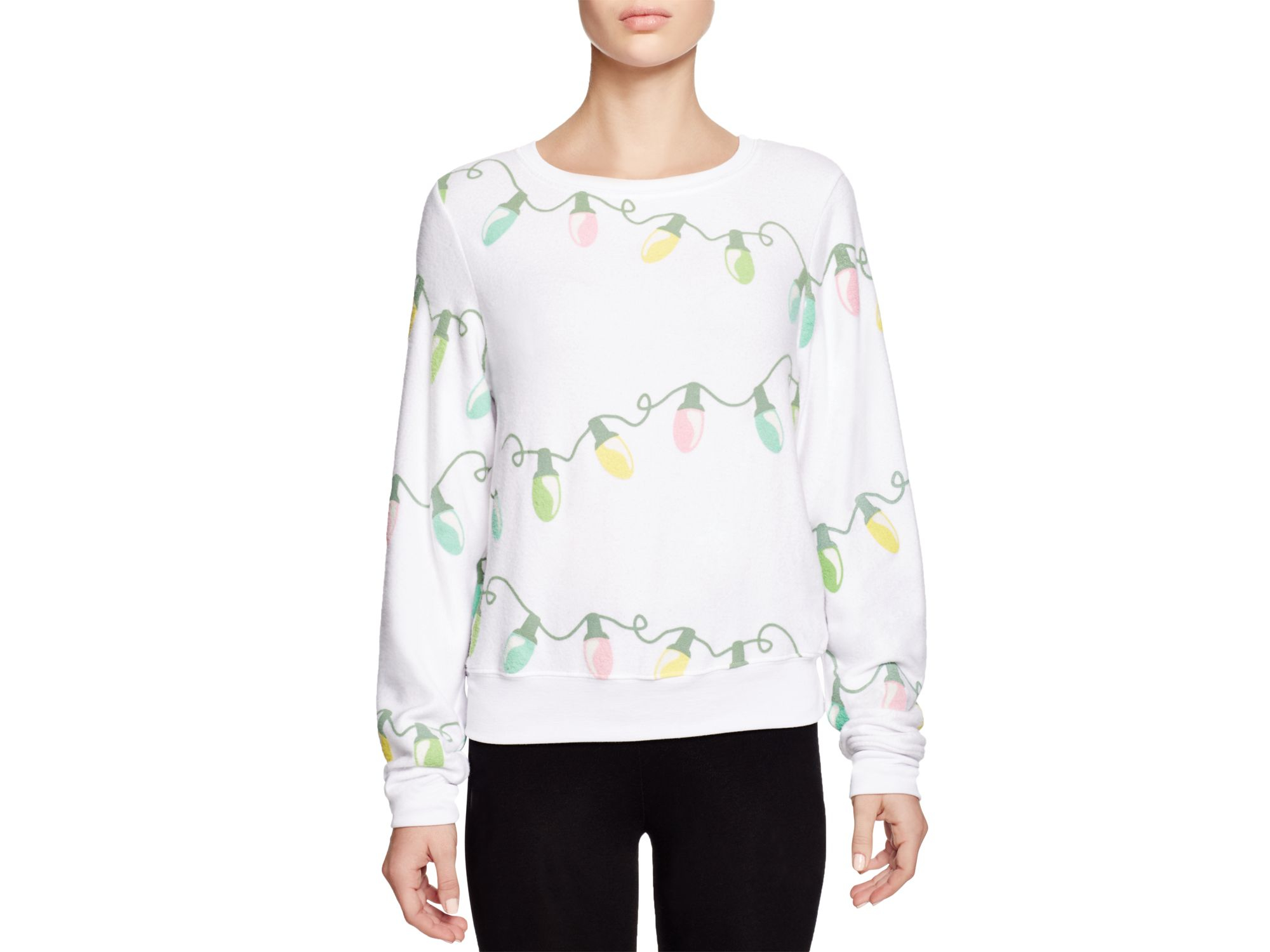 Lyst - Wildfox Glowing Lights Sweatshirt in White