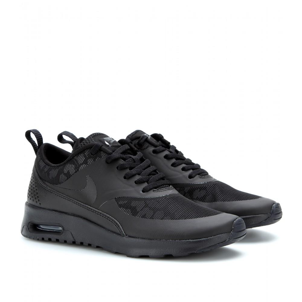 nike air max thea premium sneakers in black lyst. Black Bedroom Furniture Sets. Home Design Ideas