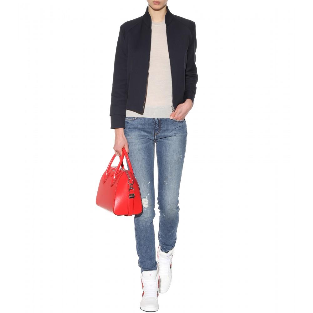 victoria beckham super skinny high rise jeans in blue lyst. Black Bedroom Furniture Sets. Home Design Ideas