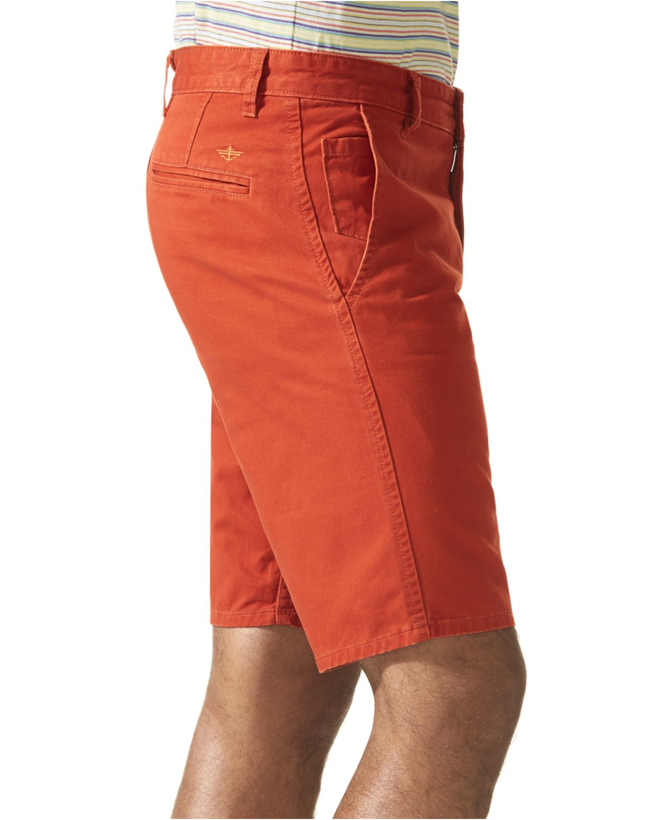 Dockers Alpha Flat Front Khaki Shorts in Orange for Men | Lyst