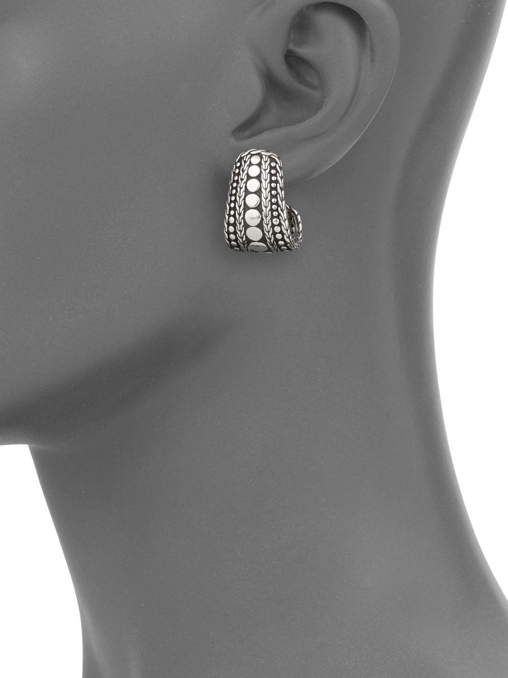 John Hardy Dot Nuansa J-Hoop Earrings 6AZV3ewSc