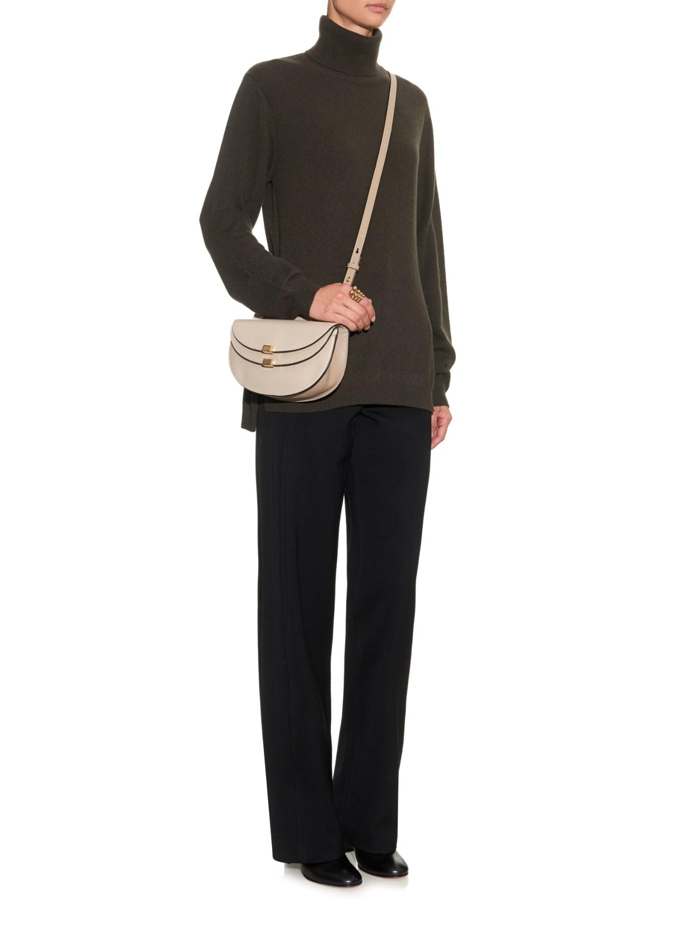 Chlo¨¦ Georgia Mini Leather Cross-Body Bag in Beige (GREY) | Lyst