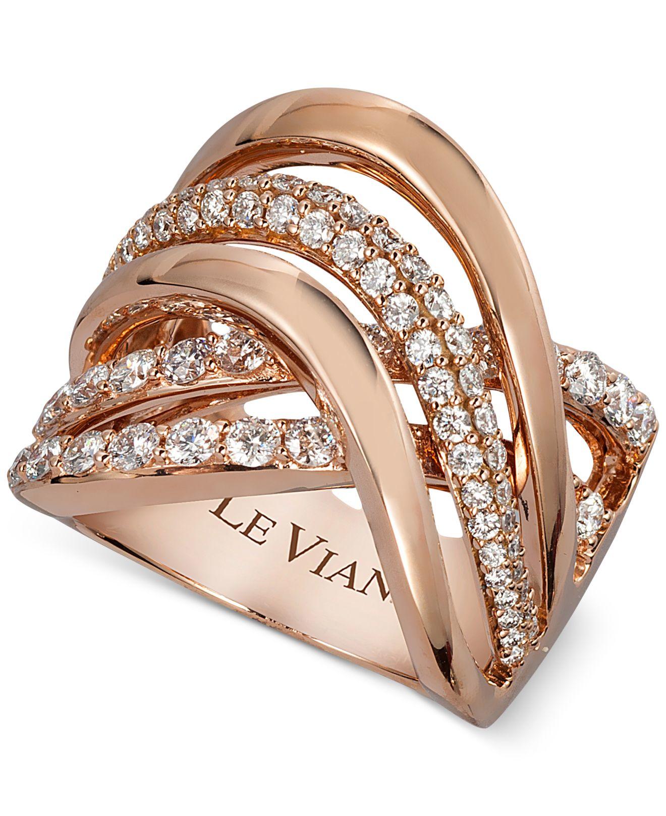 Le vian Vanilla Gladiator Weave™ Diamond Ring 1 1 3 Ct T w In