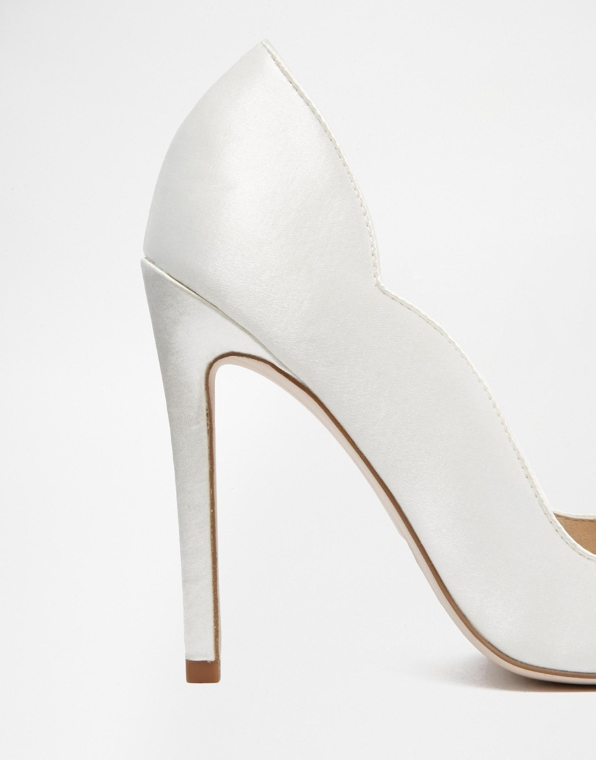 White Pointed High Heels