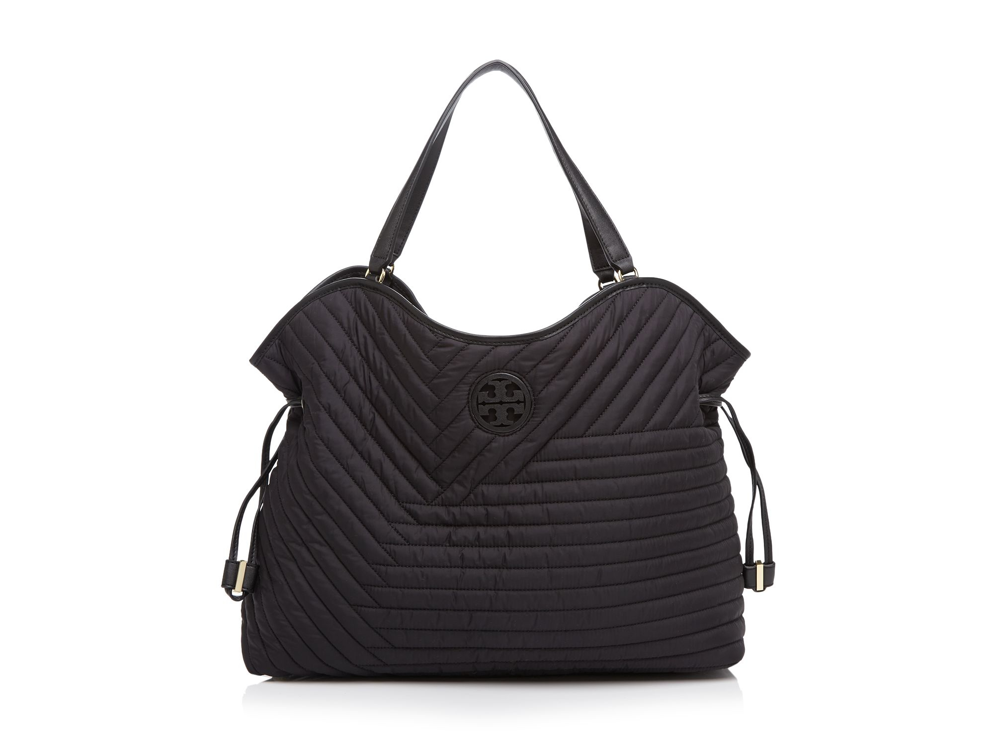 Tory Burch Quilted Nylon Slouchy Tote In Black Lyst