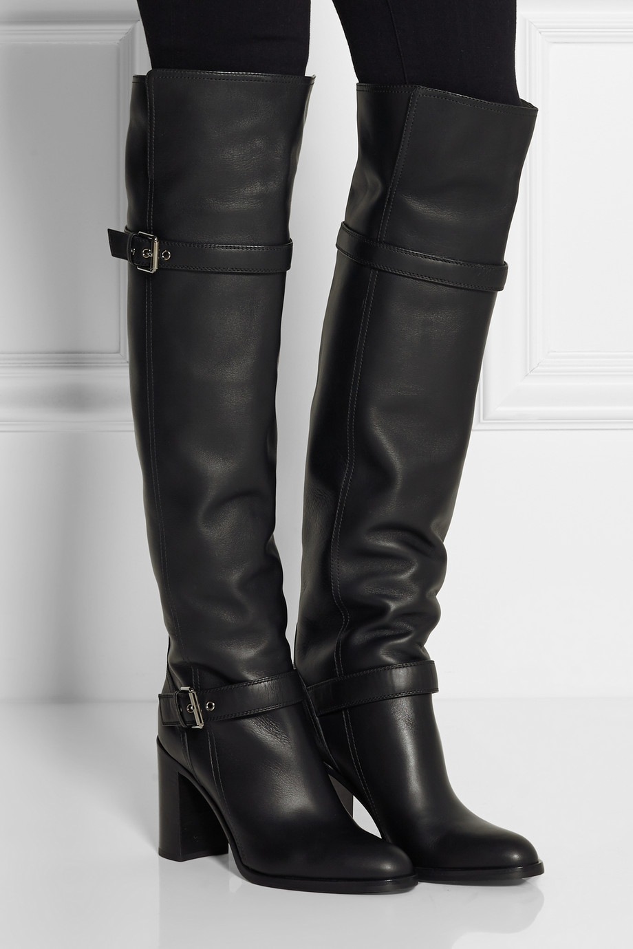 Over The Knee Leather Boots - Cr Boot