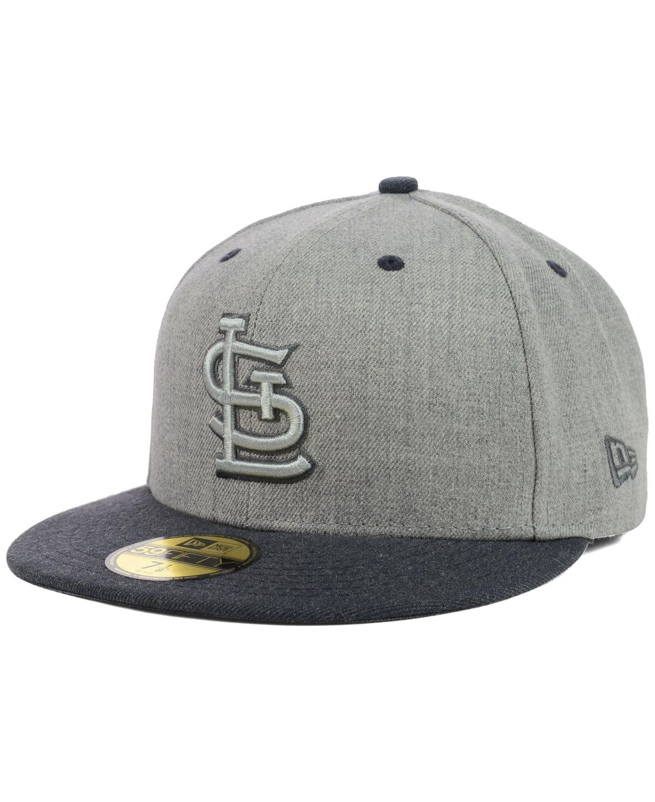 buy popular b3849 e7d7c KTZ St. Louis Cardinals Heather Mashup 59Fifty Cap in Gray for Men ...