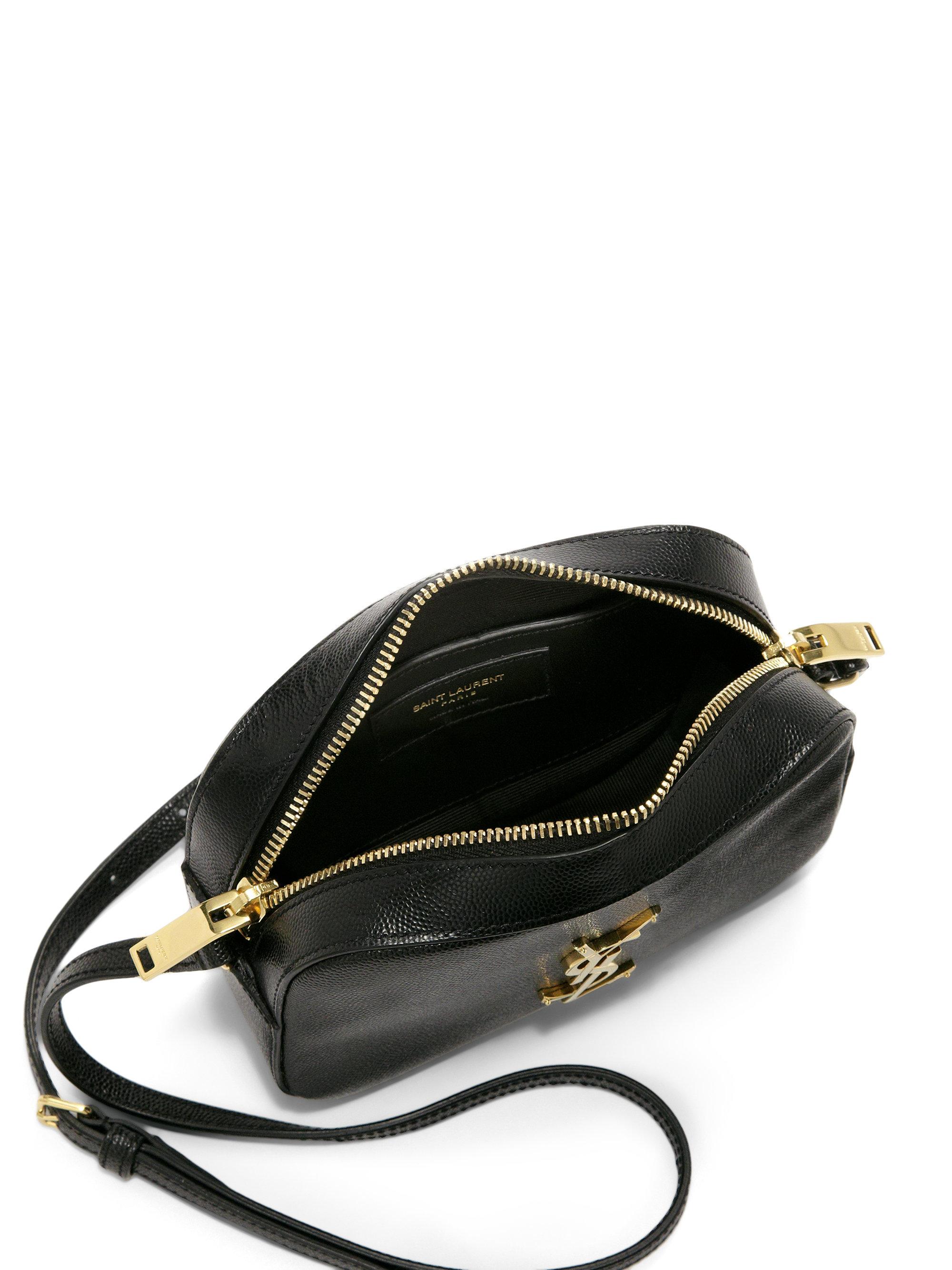 ysl bag replica - classic small monogram saint laurent camera bag in black crocodile ...