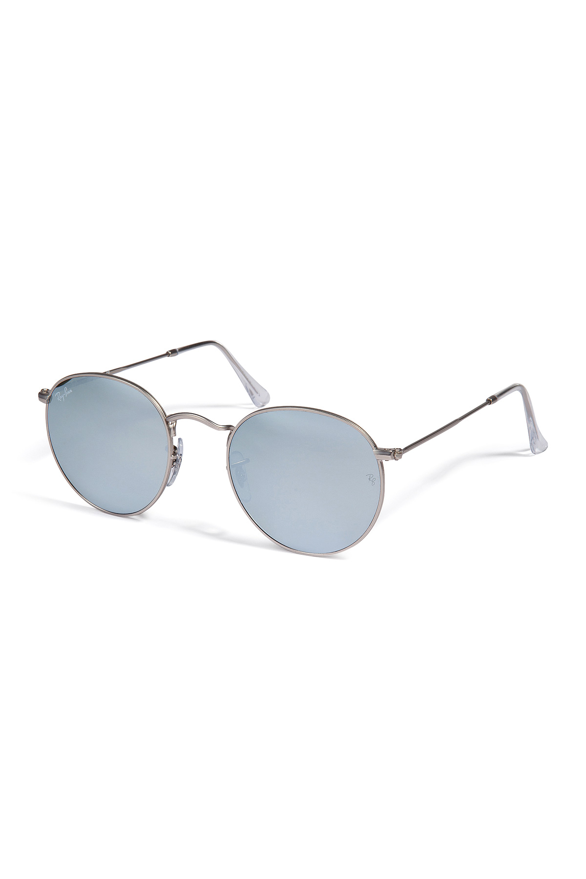 24f11abf0ea ... norway ray ban metal round flash lenses in silver in metallic for men  lyst 8737e c9212