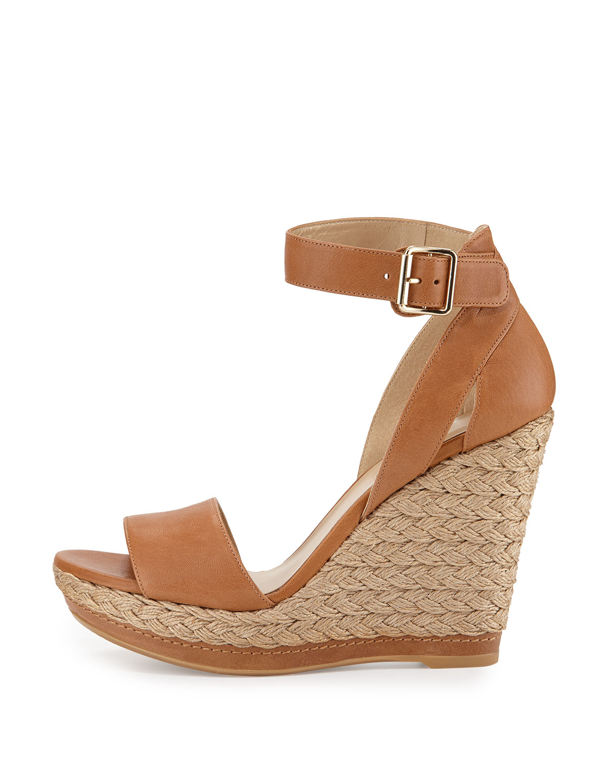 Stuart Weitzman Leather Wedge Slide Sandals cheap discount free shipping extremely r0va3VnXeY