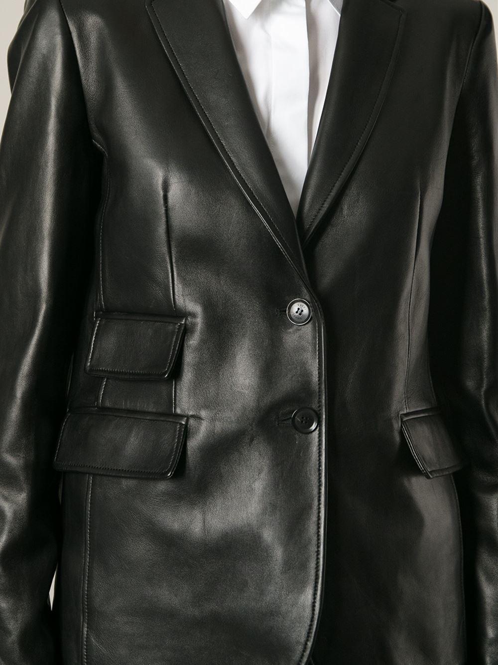 98912586e83 Black Leather Gucci Jacket
