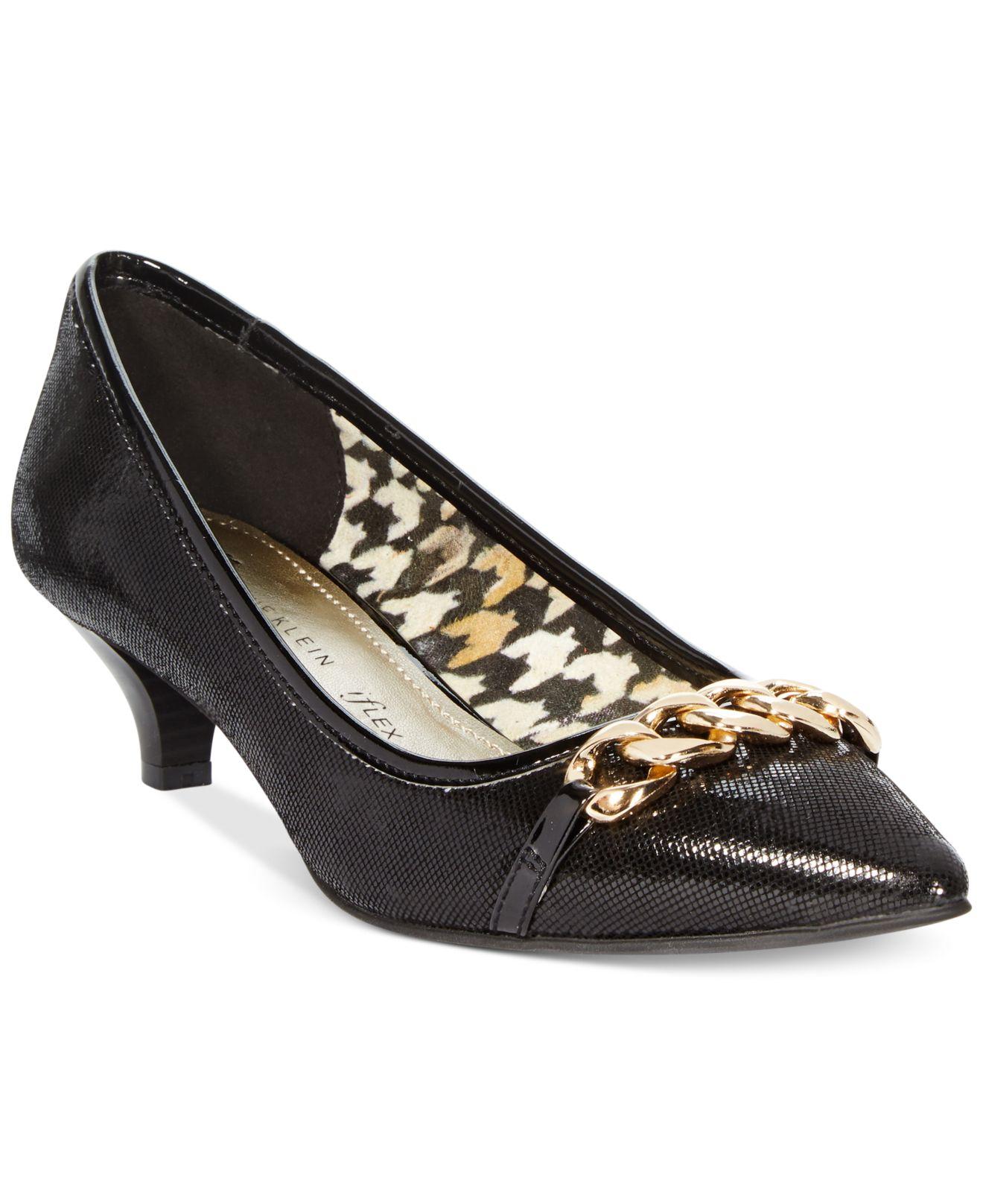 871e60e27a Anne Klein Mikaela Kitten Heel Pumps- A Macy'S Exclusive in Black - Lyst