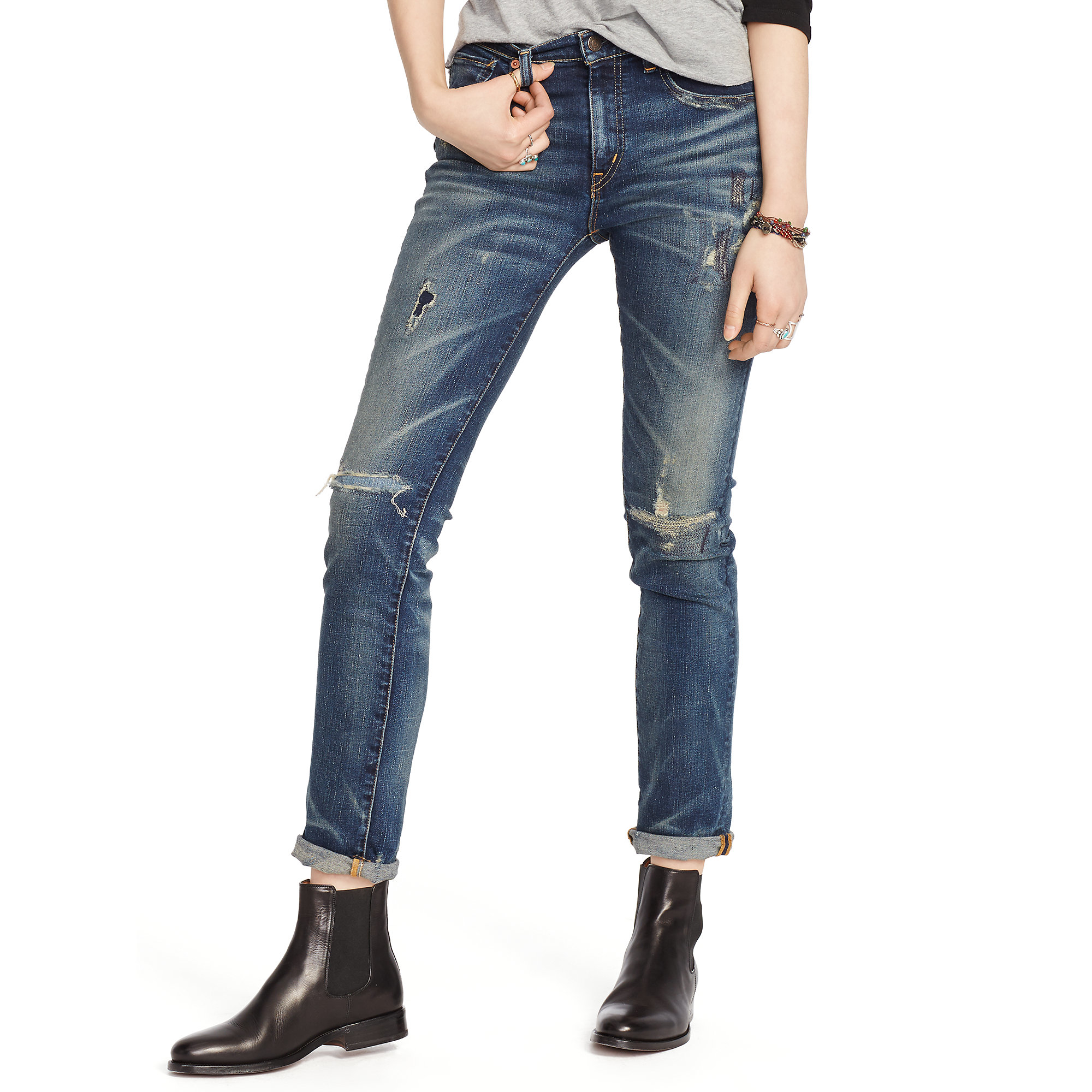 7b05778353 Denim & Supply Ralph Lauren Hemlock High-rise Skinny Jean in Blue - Lyst