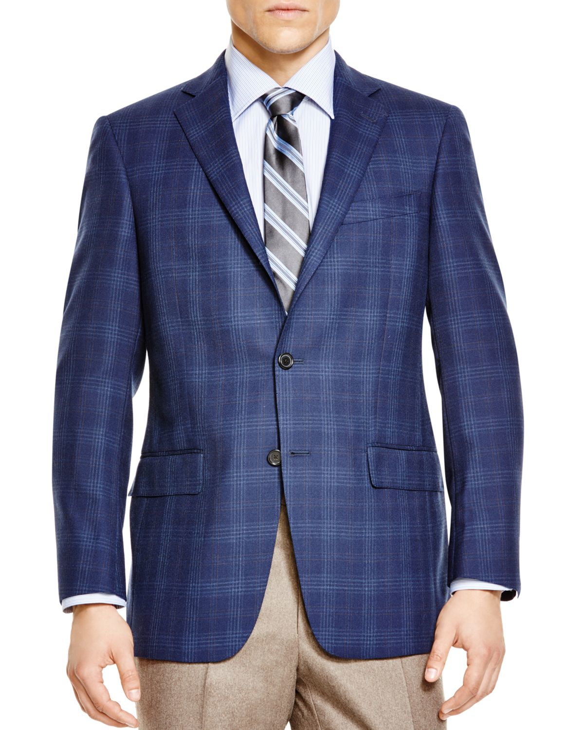 Hart schaffner marx Plaid Classic Fit Sport Coat - Bloomingdale's ...