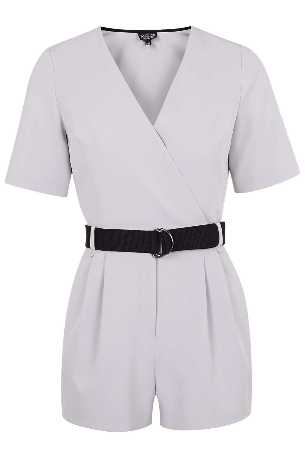 c3a2a902c81 TOPSHOP Petite Judo Wrap Playsuit in White - Lyst