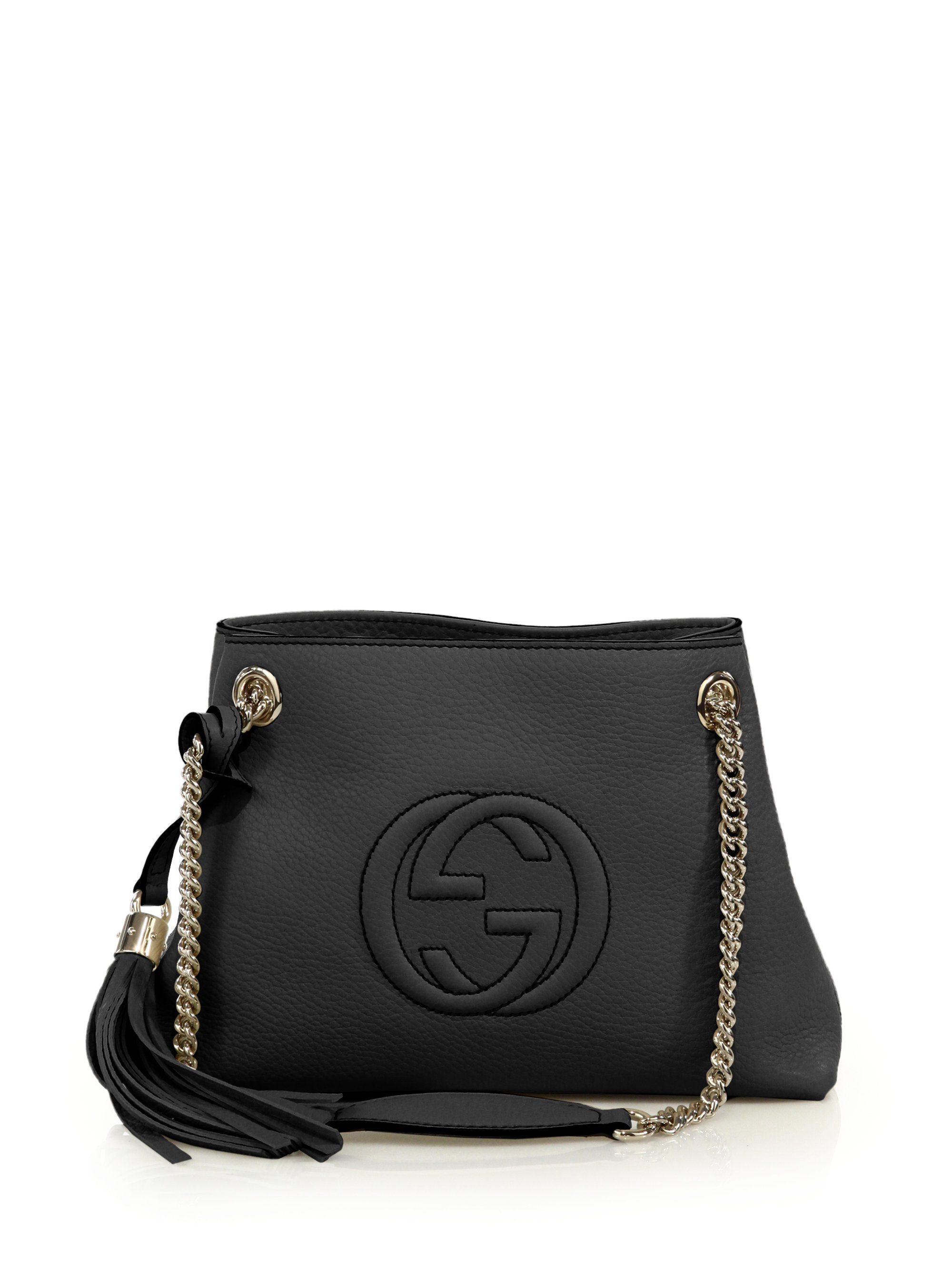 Gucci Soho Small Leather Shoulder Bag in Natural | Lyst