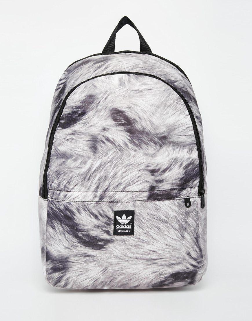 Lyst Adidas Originals Backpack In Fur Print In Black