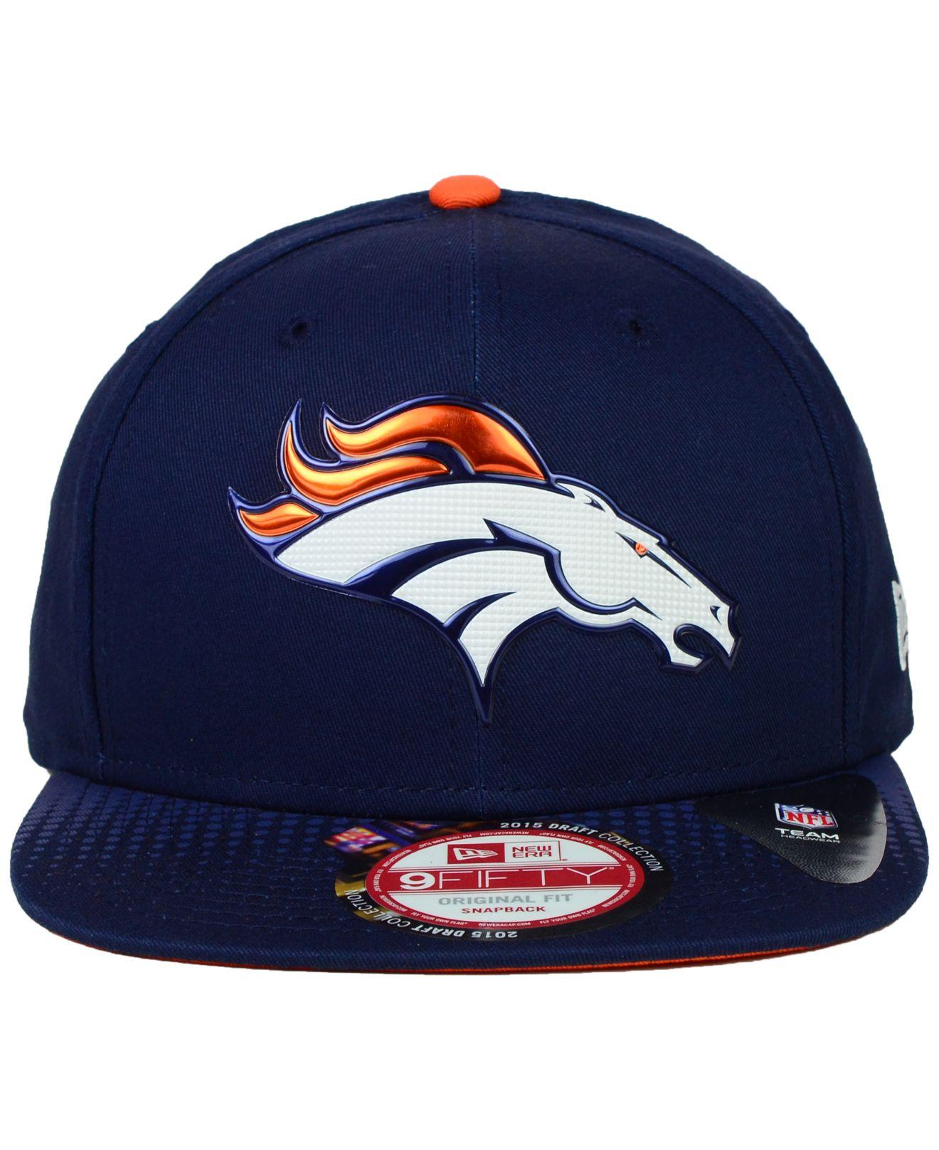 c16b4984d Lyst - KTZ Denver Broncos 2015 Nfl Draft 9fifty Snapback Cap in Blue ...