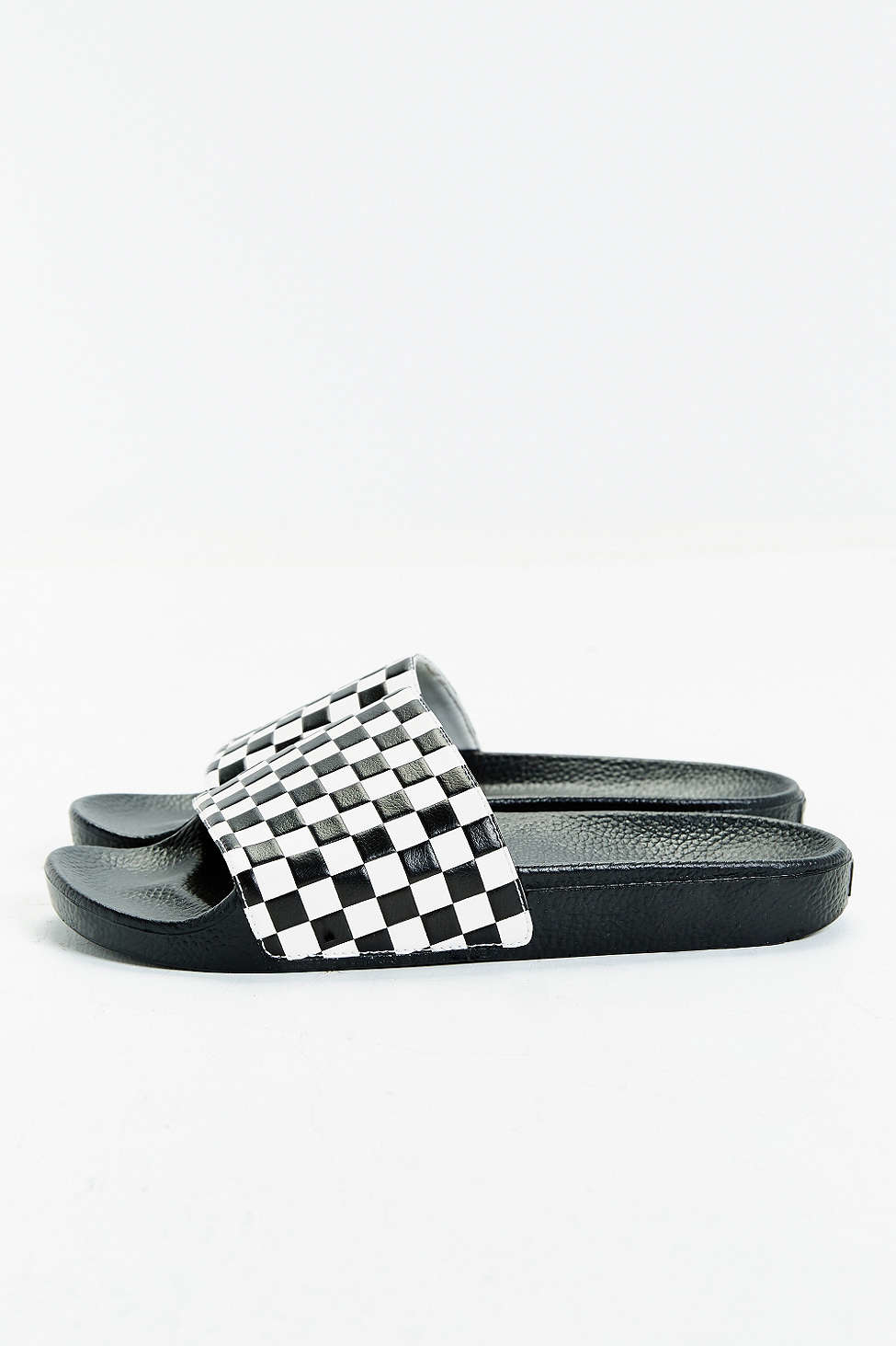 dea9516e764 Lyst - Vans Slide-on Checkerboard Sandal in White for Men