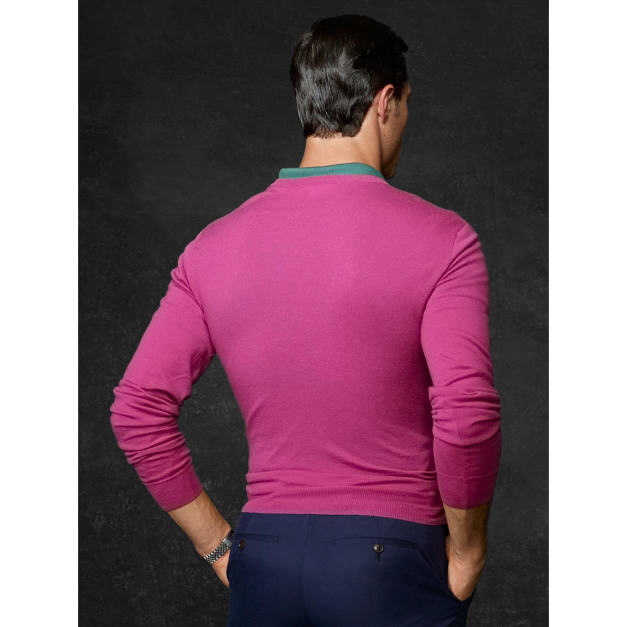 Ralph lauren purple label Cashmere V-Neck Sweater in Purple for ...