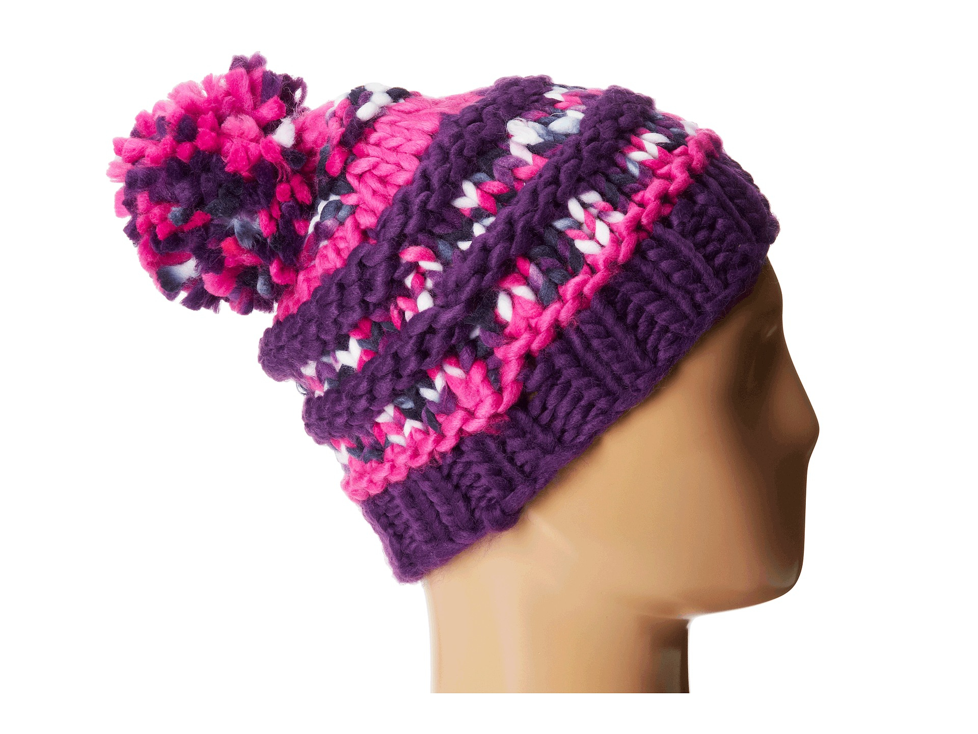 aed4df6ab01d0c The North Face Nanny Knit Beanie in Pink - Lyst