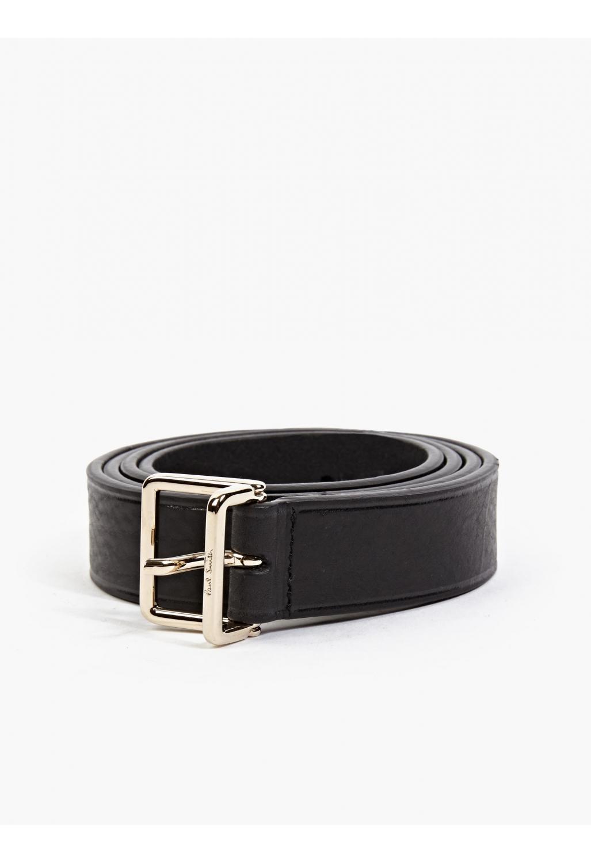 paul smith black calfskin leather belt in black for lyst