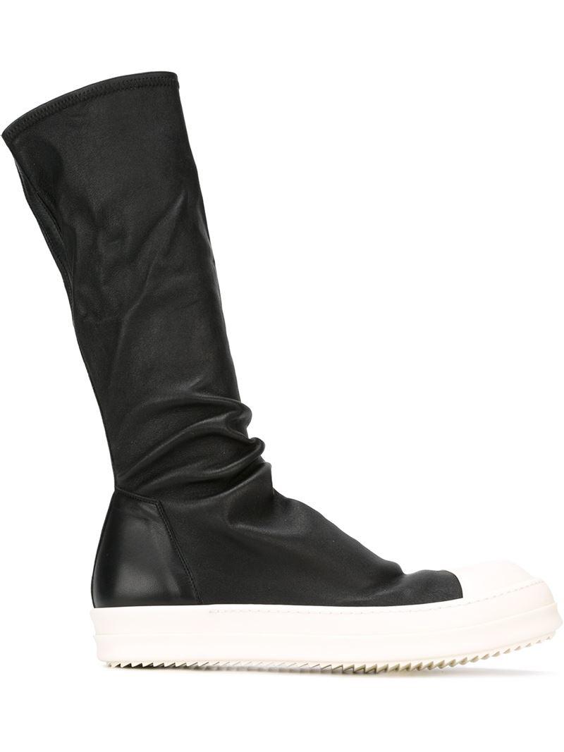 lyst rick owens sneaker boots in black for men. Black Bedroom Furniture Sets. Home Design Ideas