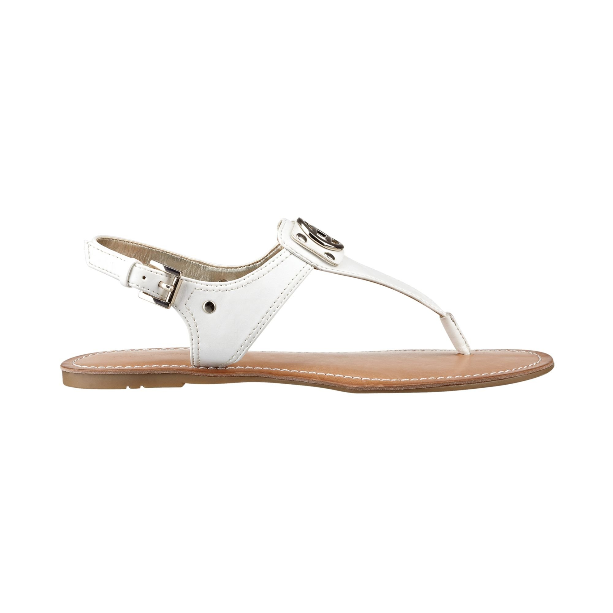 Tommy Hilfiger Womens Lolita Thong Sandals In White Lyst