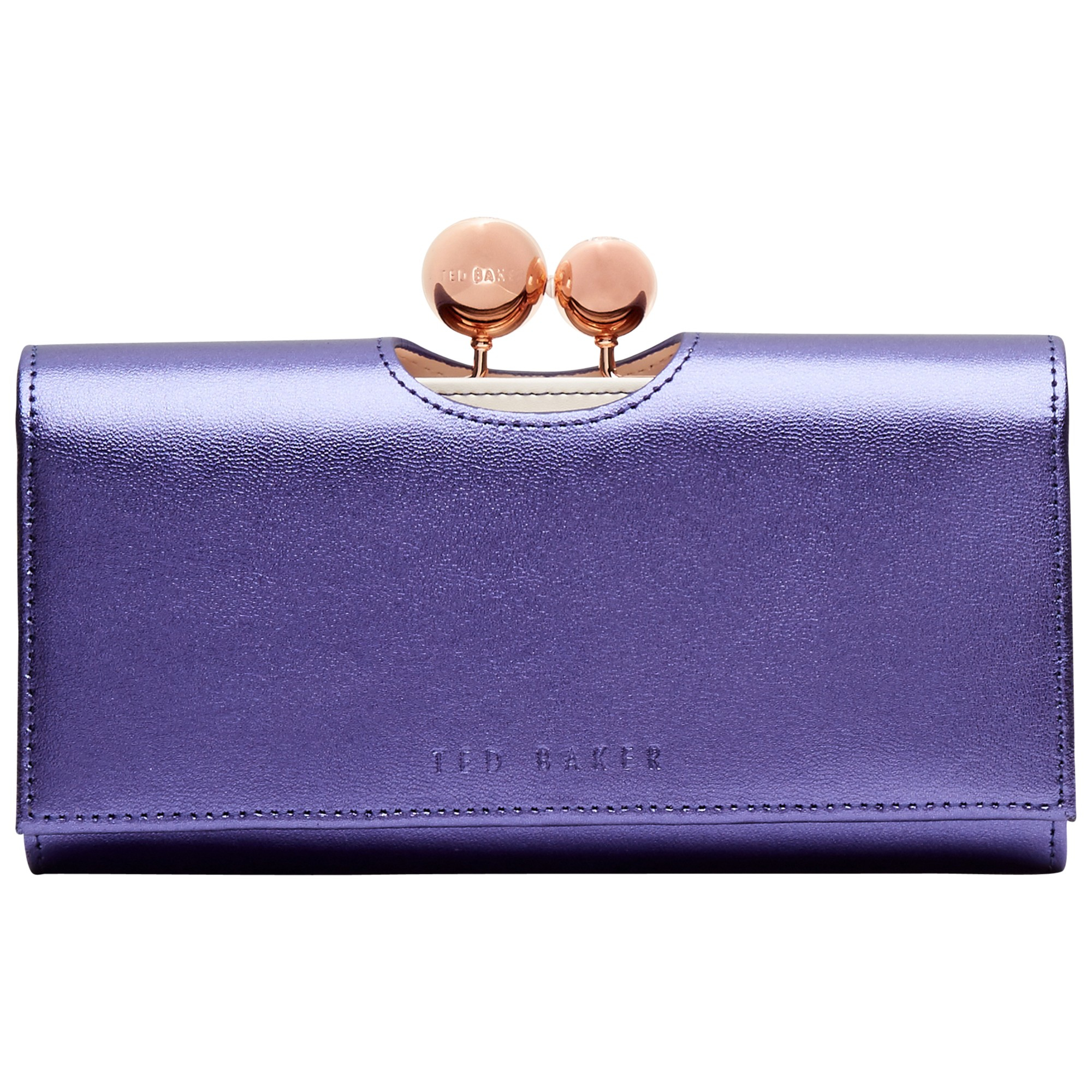 e770febbfd5e1 Ted Baker Leather Crystal Bobble Matinee Purse in Blue - Lyst
